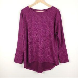 Dana Buchman Hi-Lo Chevron Shirt Top Size Medium M